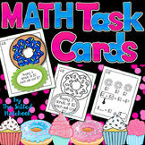 Math Task Cards First Grade Cupcakes Donuts