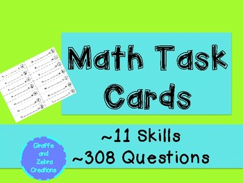 Math Task Cards (Kindergarten-2nd)