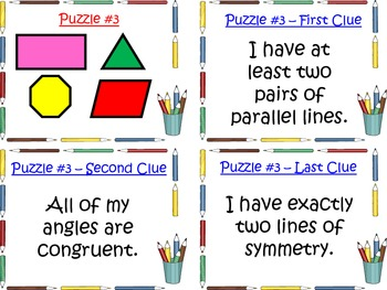 Math Task Cards - 2D Geometry Shapes Activity