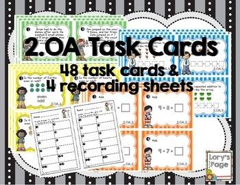 Common Core Math Task Cards - 2.OA