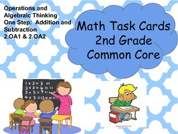 Math Task Cards 2nd Grade Common Core