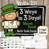 Math Task Cards {3-Digit Numbers} ~ St. Patrick's Day