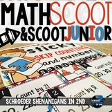 Math Task Cards - Scoot/Scoot JR - place value, skip counting, & word problems