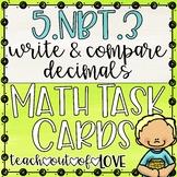 Math Task Cards 5th Grade CCSS 5.NBT.3