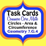 Geometry - Circles, Area, Circumference, and Pi CCS 7.G.4