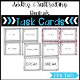 Math Task Cards - Adding & Subtracting Decimals