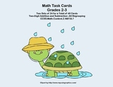 Math Task Cards-Adding and Subtracting With Regrouping-Spring