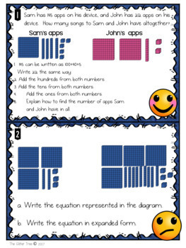 Math Task Cards-Adding and Subtracting Within 1000