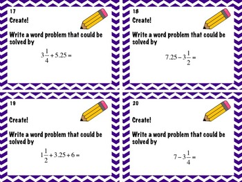 Math Task Cards: Adding and subtracting problems