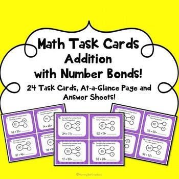 Math Task Cards: Addition with Number Bonds