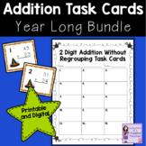 Math Task Cards   BUNDLE   2 Digit, No Regrouping Addition