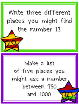 Math Task Cards - 100 Base Ten Tasks!