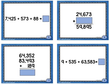 Addition with Regrouping Task Cards: Building Fluency | Distance Learning