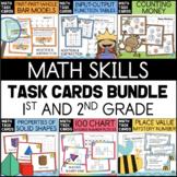 Math Task Cards Bundle Addition Subtraction Money Place Value 1st 2nd Grade
