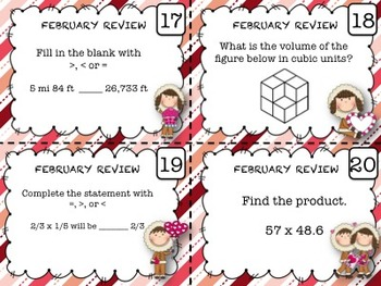 Math Task Cards Bundle (5th Grade)