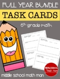 Math Task Cards Full-Year Bundle - 6th Grade Math