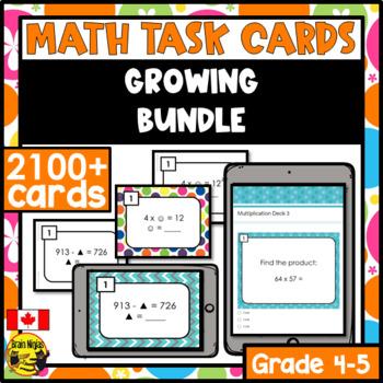 Math Task Cards Bundle Grades 3-6