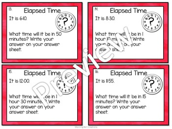 Math Task Cards Bundle: Telling Time!