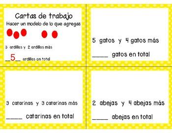 Math Task Cards Chapter 1 (SPANISH)