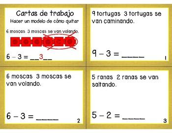 Math Task Cards Chapter 2 (SPANISH)