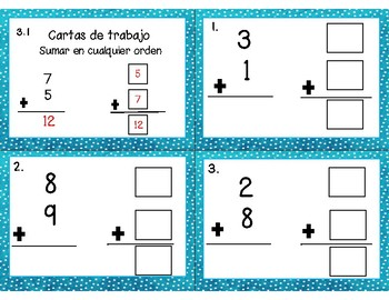 Math Task Cards Chapter 3 (SPANISH)