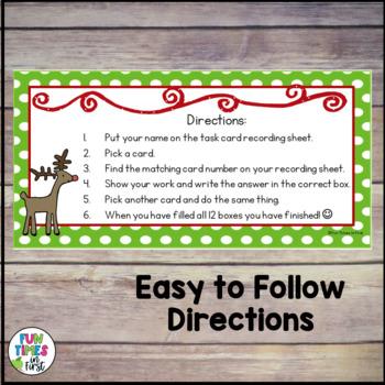 Christmas Math Task Cards {freebie}