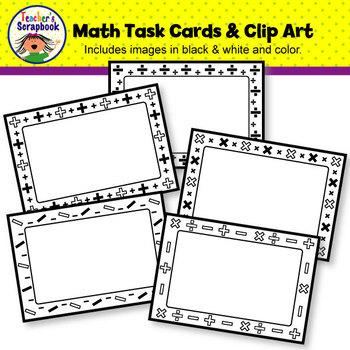 Math Task Cards & Clip Art