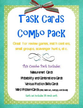 Math Task Cards Combo Pack