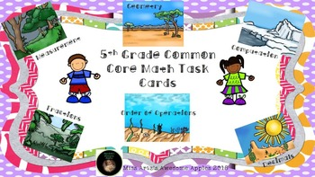 Math Task Cards - Common Core Aligned 4-6