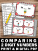 Comparing Numbers Task Cards, Greater Than Less Than, Comparing Numbers Game