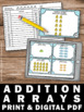 Addition Arrays Task Cards 1st 2nd Grade Math Centers Revi