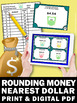 Rounding Money to the Nearest Dollar Task Cards & Game Ideas