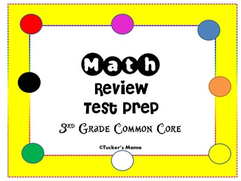 Math Task Cards Common Core Test Prep 3rd Grade