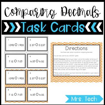 Math Task Cards - Comparing Decimals