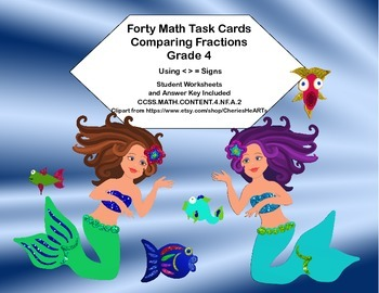 Math Task Cards - Comparing Fractions-CCSS.MATH.CONTENT.4.NF.A.2