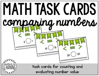Math Task Cards: Comparing Numbers