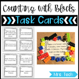 Math Task Cards - Counting Activities with Blocks