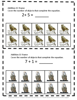 Owls Math Center 10 Frame  Kindergarten Math Special Education Math Fine Motor