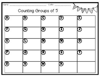 Math Task Cards - Counting Groups of 5 up to 120
