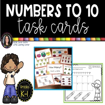 Numbers to 10 ~ Math Center ~ Task Cards