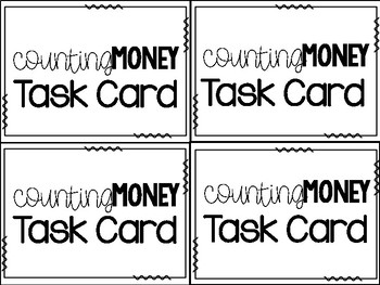 Math Task Cards:  Counting Money