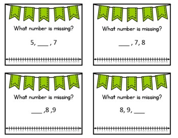 Math Task Cards: Missing Numbers