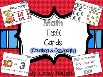 Math Task Cards {Counting and Cardinality}