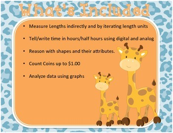 Math Task Cards - Data,Money,Time,Fractions - Set #2