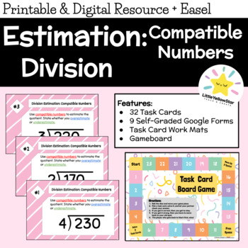 Math Task Cards - Division - Estimation using Compatible Numbers