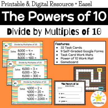 Math Task Cards - Division by Multiples of 10, 100, & 1000