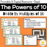 Dividing by Multiples of 10: Math Task Cards (Digital Goog