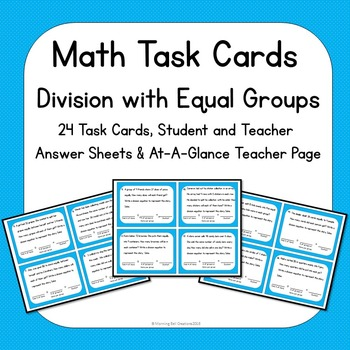 Math Task Cards Division with Equal Shares by Morning Bell Creations