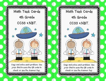 Math Task Cards - Division with QR Codes
