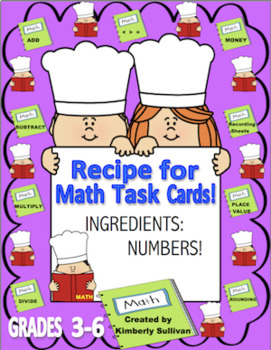Back to School Review Math Task Cards  Easy as Pie Recipe